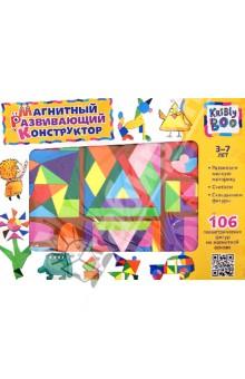 Магнитный развивающий конструктор, 106 деталей (47069)Конструкторы магнитные<br>Развивающий магнитный конструктор.<br>106 геометрических фигур на магнитной основе.<br>Эта игра помогает ребенку развивать внимание, усидчивость, учит сосредотачиваться на интеллектуальных задачах, развивает фантазию.<br>Детали игры можно расположить на любой металлической поверхности: на доске, на двери, на холодильнике.<br>Количество фигур, которые можно собрать из этого конструктора, ограничивается только фантазией.<br>Изготовлено из вспененного полимерного материала с магнитными деталями.<br>Для детей 3-7 лет.<br>Упаковка: картонная коробка.<br>Сделано в Китае.<br>