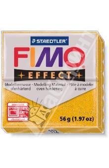 FIMO Effect полимерная глина, 56 гр., цвет золотой блеск (8020-112)Лепим из глины<br>FIMO Effect - это полимерная глина FIMO, схожая по свойствам с FIMO Soft, но с различными эффектами: с блестками, эффектом камня, металлик, люминесцентный и прозрачный.<br>Стандартный блок весит 56 грамм.<br>Цвет: золотой блеск (112)<br>Сделано в Германии<br>