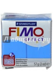 Полимерная глина FIMO Effect (57 гр, цвет полупрозрачный синий) (8020-374)Лепим из глины<br>FIMO Effect - это полимерная глина FIMO, схожая по свойствам с FIMO Soft, но с различными эффектами: с блестками, эффектом камня, металлик, люминесцентный и прозрачный.<br>Стандартный блок весит 57 грамм.  <br>Цвет: синий (374)<br>Сделано в Германии.<br>