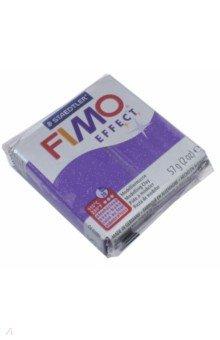 FIMO Effect полимерная глина, 56 гр., цвет лиловый металлик (8020-602)Лепим из глины<br>FIMO Effect - это полимерная глина FIMO, схожая по свойствам с FIMO Soft, но с различными эффектами: с блестками, эффектом камня, металлик, люминесцентный и прозрачный.<br>Стандартный блок весит 56 грамм.  <br>Цвет: лиловый металлик<br>Сделано в Германии<br>