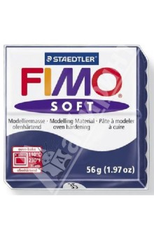 FIMO Soft полимерная глина, 56 гр., цвет королевский синий (8020-35)Лепим из глины<br>Fimo Soft - это запекаемая полимерная глина, очень мягкая и пластичная. Поддается формованию более охотно, чем другие разновидности Fimo. Может с одинаковым успехом использоваться как для изготовления простых изделий, например, магнитов, брелоков, так и для создания сложных украшений с переходом цвета и сложной поверхностью.  <br>Структура этой глины позволяет при смешивании получать красивые чистые цвета. Изделия, изготовленные из Fimo Soft приобретают высокую прочность после запекания. Походит для использования штампов. <br>Стандартный блок весит 56 грамм.  <br>Цвет: королевский синий (35)<br>Сделано в Германии<br>