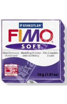FIMO Soft полимерная глина, 56 гр., цвет сливовый (8020-63)Лепим из глины<br>Fimo Soft - это запекаемая полимерная глина, очень мягкая и пластичная. Поддается формованию более охотно, чем другие разновидности Fimo. Может с одинаковым успехом использоваться как для изготовления простых изделий, например, магнитов, брелоков, так и для создания сложных украшений с переходом цвета и сложной поверхностью.  <br>Структура этой глины позволяет при смешивании получать красивые чистые цвета. Изделия, изготовленные из Fimo Soft приобретают высокую прочность после запекания. Походит для использования штампов. <br>Стандартный блок весит 56 грамм.  <br>Цвет: сливовый (63)<br>Сделано в Германии<br>