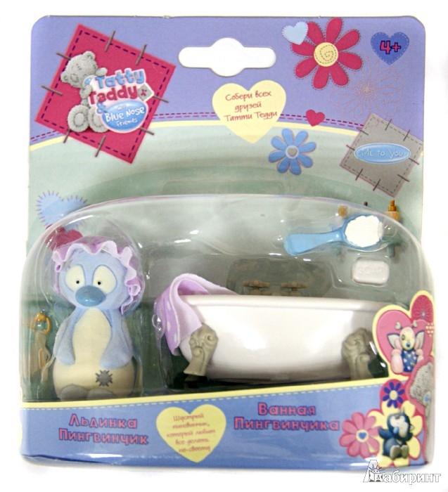 """Иллюстрация 1 из 4 для Tatty Teddy & my Blue Nose Friends. Набор """"Пингвиненок в ванной"""" (35617)   Лабиринт - игрушки. Источник: Лабиринт"""