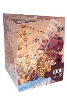 Puzzle-1000 Корсары, Ruyer (29570)Пазлы (1000 элементов)<br>Пазл-мозаика. <br>Количество элементов: 1000<br>Размер картинки: 70х50 см.<br>Правила игры: вскрыть упаковку и собрать игру по картинке.<br>Не давать детям до 3-х лет из-за наличия мелких деталей.<br>Материал: картон<br>Упаковка: картонная коробка.<br>Сделано в Германии.<br>