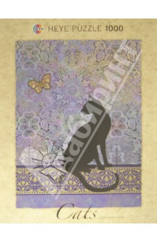 Puzzle-1000 Силуэт кошки, Jane Crowther (29534)Пазлы (1000 элементов)<br>Пазл-мозаика. <br>Количество элементов: 1000<br>Размер картинки: 50х70 см.<br>Правила игры: вскрыть упаковку и собрать игру по картинке.<br>Не давать детям до 3-х лет из-за наличия мелких деталей.<br>Материал: картон<br>Упаковка: картонная коробка.<br>Сделано в Германии.<br>