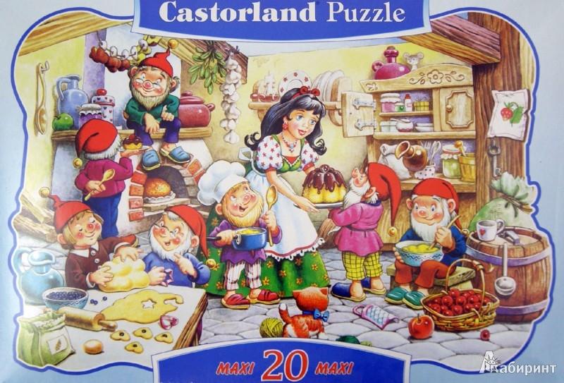 """Иллюстрация 1 из 8 для Puzzle, 20 элементов, MAXI """"Белоснежка"""" (В-040018)   Лабиринт - игрушки. Источник: Лабиринт"""