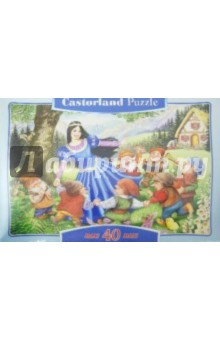 """Puzzle-40 MAXI """"Белоснежка и 7 гномов"""" (В-040049)"""