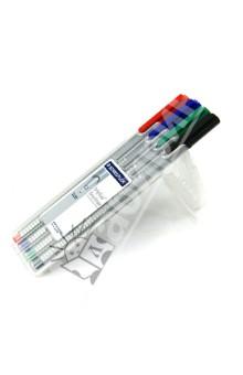 Капиллярная ручка Triplus 4 цвета (334SB4)Наборы капиллярных ручек<br>Набор капиллярных ручек, 4 цвета. <br>- Эргономичный трехгранный корпус, обеспечивающий комфортное письмо без усилий и усталости;<br>- Премиальный дизайн, с  гладкой и приятной на ощупь поверхностью;<br>- Супер тонкий и особо прочный металлический наконечник;<br>- Идеально подходит как для письма и работы с документами, так и для творчества;<br>- Особо мягкое и плавное письмо;<br>- Цвет чернил соответствует цвету колпачка и заглушки (красный, синий, зеленый, черный);<br>- Уникальная система DRY SAFE позволяет оставлять ручку без колпачка на несколько дней без угрозы высыхания;<br>- Функция  автоматического выравнивания давления, предотвращение от утечки чернил в полете;<br>- Широкий спектр ярких и сочных цветов;<br>- Толщина линии: 0,3 мм.<br>Упаковка: пластиковая коробка-подставка с подвесом.<br>Сделано в Германии.<br>