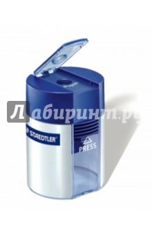 Точилка пластиковая бочонок, 1 диаметр (51100102)Точилки<br>Точилка пластиковая.<br>- Под один диаметр с контейнером;<br>- Сердечник изготовлен из высококачественного металла;<br>- Прозрачный корпус с контролем уровня наполняемости контейнера;<br>- Удобная и легкая система открытия с замком;<br>- Для быстрой и легкой заточки карандашей стандартного размера до 8,2 мм диаметра с углом резкости 23°;<br>- Качество лезвия позволяет получить четкую заточку без заусенцев или поломки грифеля.<br>Цвет корпуса: серебро.<br>Сделано в Китае.<br>