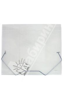 Папка A4 с резинкой, 40 мм., полупрозрачная (SB40TW-00)Папки-конверты на резинках<br>Папка на резинке.<br>Клапаны папки надежно удерживают документы внутри. Резинки плотно закрывают папку.<br>Формат: А4<br>Толщина папки: 40 мм<br>Материал: полупрозрачный пластик.<br>Предназначена для хранения и транспортировки бумаг.<br>