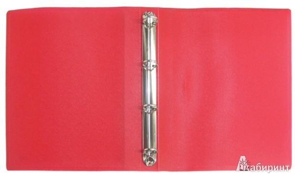 Иллюстрация 1 из 2 для Папка A4 4 кольца красная (RB 25-4-01) | Лабиринт - канцтовы. Источник: Лабиринт