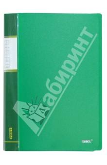 Папка A4 с 60 вкладышами, зеленая (DB60AB-03)Папки с прозрачными файлами<br>Папка с прозрачными файлами.<br>Цвет: зеленый.<br>Корешок с пластиковым карманом.<br>Толщина: 0.75 мм.<br>Количество вкладышей: 60.<br>Формат: А4.<br>