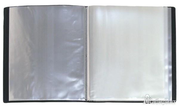 Иллюстрация 1 из 2 для Папка A4 с 60 вкладышами, черная (DB60AB-06) | Лабиринт - канцтовы. Источник: Лабиринт