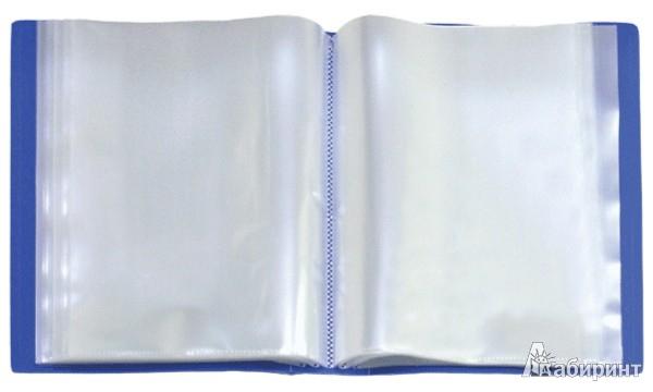 Иллюстрация 1 из 18 для Папка со 100 вкладышами в пластиковом коробе, А4, синяя (DB100AB-04)   Лабиринт - канцтовы. Источник: Лабиринт