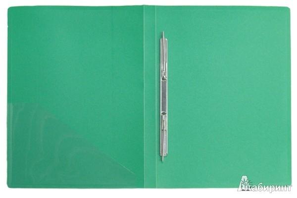 Иллюстрация 1 из 3 для Папка A4 с боковым пружинным скоросшивателем, зеленая (CF903P-03) | Лабиринт - канцтовы. Источник: Лабиринт