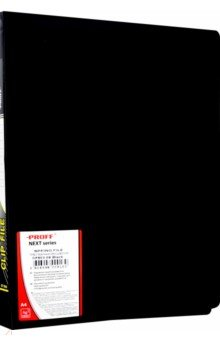 Папка A4 с боковым пружинным скоросшивателем, черная (CF903-06) Proff