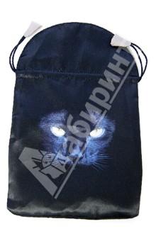 Мешочек для карт таро: Черная кошка (BT42)Гадания. Карты Таро<br>Мешочек - аксессуар для хранения карт Таро.<br>Затягивается на шнурок.<br>Материал: текстиль<br>Упаковка: целлофановый пакет.<br>