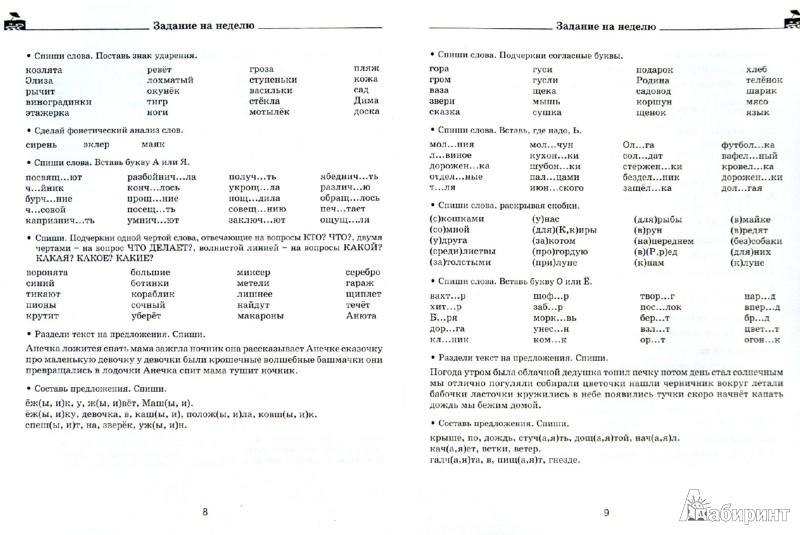 Иллюстрация 1 из 11 для Задания по русскому языку для повторения и закрепления учебного материала. 1 класс - Узорова, Нефедова | Лабиринт - книги. Источник: Лабиринт