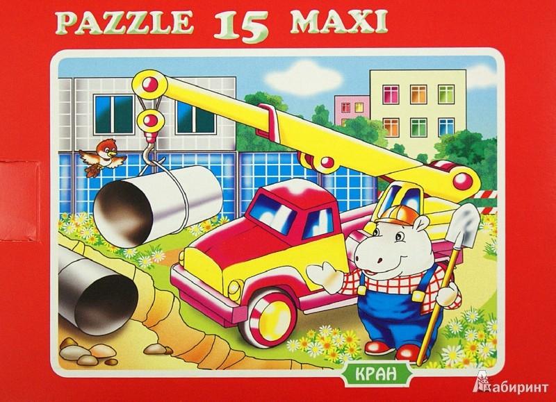 """Иллюстрация 1 из 2 для Пазл MAXI 15 """"Кран"""" (К-1508)   Лабиринт - игрушки. Источник: Лабиринт"""