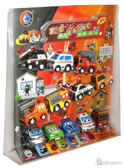 Иллюстрация 1 из 3 для Набор инерционных машинок 12 шт. (2817-12A)   Лабиринт - игрушки. Источник: Лабиринт