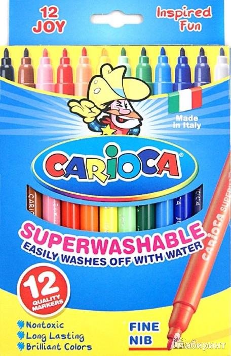 Иллюстрация 1 из 10 для Фломастеры CARIOCA JOY 12 цветов (40614) | Лабиринт - канцтовы. Источник: Лабиринт