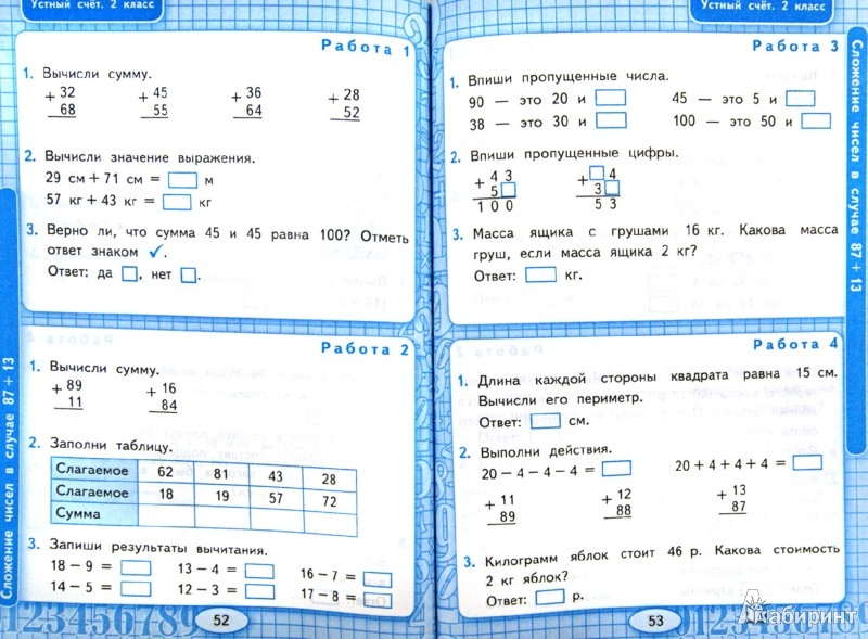 Рабочая программа по математике моро 2 класс