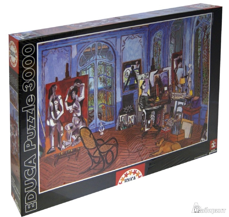 """Иллюстрация 1 из 2 для Пазл, 3000 элементов, """"Студия Пикассо"""" (15539)   Лабиринт - игрушки. Источник: Лабиринт"""