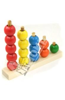 Пирамидка Радуга (ПИР-04)Пирамидки, сортеры и стучалки<br>Развивает мелкую моторику, координацию движений, умение различать цвета и дает первоначальные счетные навыки.<br>Изготовлена из экологически чистых материалов (дерева).<br>Для детей от 3-х лет. Содержит мелкие детали.<br>Изготовлено в России.<br>