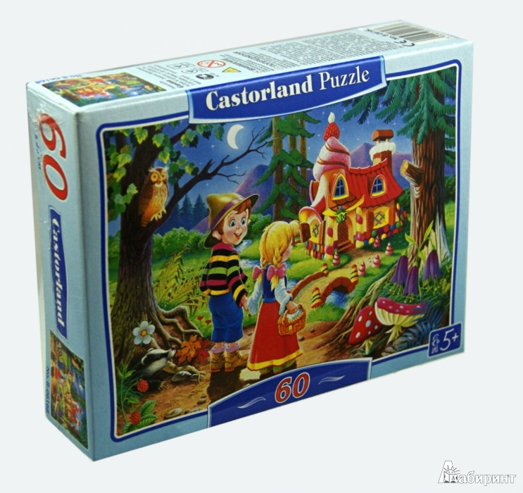Иллюстрация 1 из 7 для Puzzle-60.MIDI. Пряничный домик (В-06168) | Лабиринт - игрушки. Источник: Лабиринт