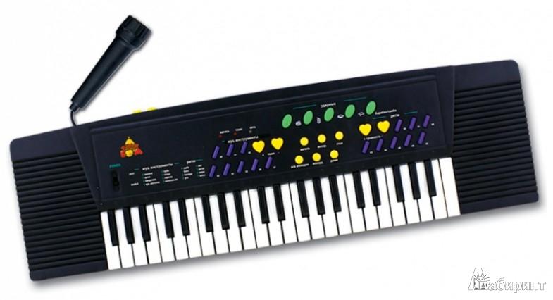 Иллюстрация 1 из 2 для Детский музыкальный синтезатор на батарейках (Т80475) | Лабиринт - игрушки. Источник: Лабиринт