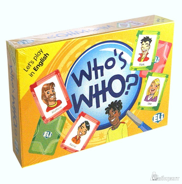 Иллюстрация 1 из 2 для GAMES: WHO'S WHO? (Level: A2) Набор из 66 карточек | Лабиринт - книги. Источник: Лабиринт