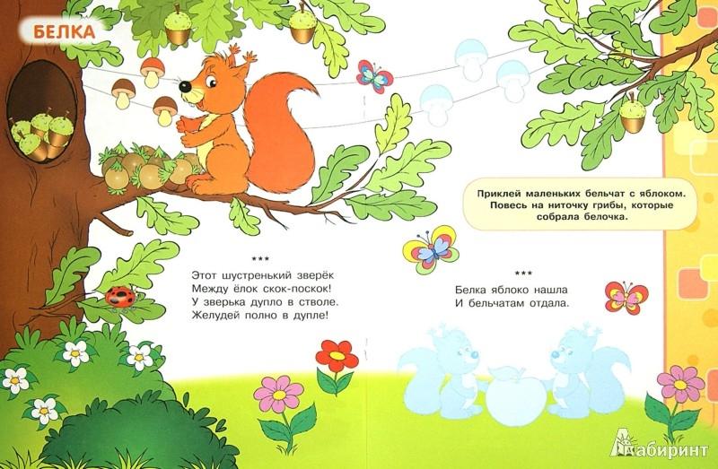Иллюстрация 1 из 12 для Учись, малыш! Лесные животные. Книжка с наклейками - Куликовская, Куликовский   Лабиринт - книги. Источник: Лабиринт