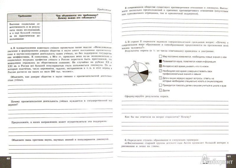 Иллюстрация 1 из 3 для Обществознание. 10 класс. Тетрадь-тренажер. Базовый уровень - Котова, Лискова | Лабиринт - книги. Источник: Лабиринт