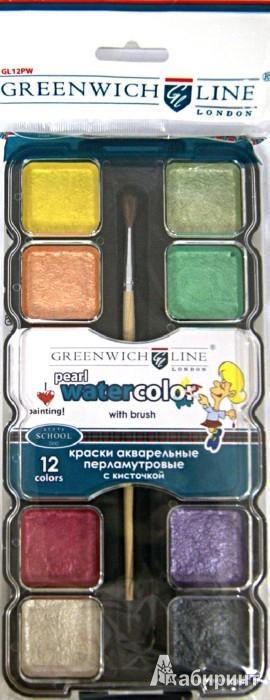 Иллюстрация 1 из 14 для Краски акварельные перламутровые, 12 цветов (GL12PWCpearl) | Лабиринт - канцтовы. Источник: Лабиринт