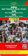 Indien. Nepal. Bangladesch. Bhutan. Sri Lanka. 1:2 750 000
