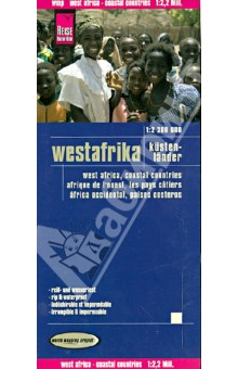 Westafrika. Kusten-Lander. 1:2 200 000Атласы и карты мира<br>This map appears in the map series world mapping project in travel expertise. Characteristic is the high-quality, clear and modern cartographic representation.<br>- Contour lines with elevation<br>- Coloured elevation levels<br>- Classified road network with distances<br>- Places of interest<br>- Detailed local index<br>- GPS capability by longitude and latitude<br>- Legend in four languages (. Ger., Engl, French Polynesia, Span.)<br>- Cabo Verde Einklinker<br>