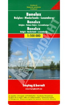 Benelux. 1:500 000Атласы и карты мира<br>Explore Benelux with this Freytag&amp;amp;Berndt double-sided road map. The best way to plan your trip, prepare your itinerary, and to travel independently in the Netherlands, Belgium, and the Grand Duchy of Luxembourg.<br>