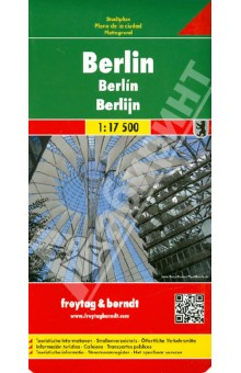 Berlin. 1:17 500Атласы и карты мира<br>Explore Berlin with this Freytag&amp;amp;Berndt street map. The best way to plan your trip, prepare your itinerary, and to travel independently in the capital of Germany.<br>This map contains a booklet attached to the cover. You ll find inside a street index, a metro plan and a map of the Greater Berlin. Touristic information on the map.<br>The legend is in English, German, Spanish, Italian, Dutch, French, Czech, Polish, Slovak and Hungarian.<br>