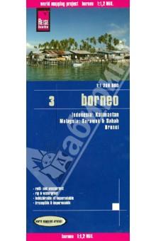 Borneo. Indonesia, Malaysia. 1:1 200 000