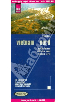 Vietnam, North 1:600 000Атласы и карты мира<br>This map appears in the map series world mapping project in travel expertise. Characteristic is the high-quality, clear and modern cartographic representation.<br>- Contour lines with elevation<br>- Coloured elevation levels<br>- Classified road network with distances<br>- Places of interest<br>- Detailed local index<br>- GPS capability by longitude and latitude<br>- Legend in four languages (. Ger., Engl, French Polynesia, Span.)<br>- Cabo Verde Einklinker<br>