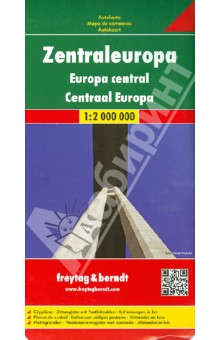 Zentraleuropa. 1:2 000 000Атласы и карты мира<br>High quality road maps with place name index. In many countries these are simply the best maps available. Scales vary according to the size of the country. Index is in several languages.<br>