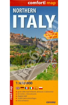 Northern Italy. 1:650 000