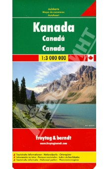 Canada 1:3 000 000Атласы и карты мира<br>Explore Canada with this Freytag&amp;Berndt double-sided road map. The best way to plan your trip, prepare your itinerary, and to travel independently in this country. One side shows Western Canada: British Columbia, the Prairies, Yukon, and the North-West Territories, and the other side shows Ontario, Quebec, and Atlantic Canada. Touristic information: airports, national parks, places of interest.<br>