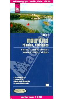 Mauritius. Reunion, Rodrigues. 1:90 000Атласы и карты мира<br>Карта островов Маврикий на немецком, английском, французском и испанском языках. Масштаб 1:90 000.<br>