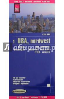 USA. Nordwesten/Northwest 1:750 000