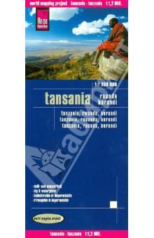 Tanzania 1:1 200 000Атласы и карты мира<br>Carte routiere detaillee editee par Reise Know How en 2012 qui couvre l ensemble de la Tanzanie, du Rwanda et du Burundi. Petit plan de Dar es Salaam et index des villes inclus. Cette carte detaillee est indechirable et impermeable.<br>