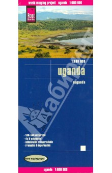Uganda 1:600 000Атласы и карты мира<br>This map appears in the map series world mapping project in travel expertise. Characteristic is the high-quality, clear and modern cartographic representation.<br>Contour lines with elevation<br>Coloured elevation levels<br>Classified road network with distances<br>Places of interest<br>Detailed local index<br>GPS capability by longitude and latitude<br>UTM grid<br>