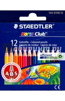 """Карандаши цветные """"Noris Club"""" 12 цветов, длина 88 мм (14401NC1210) STAEDTLER"""