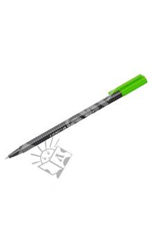 Роллер Triplus 0,3 мм, зеленый (403-5)Ручки капиллярные простые цветные<br>Ручка - роллер;<br>Эргономичный трехгранный корпус, обеспечивающий комфортное письмо без усилий и усталости;<br>Премиальный дизайн, с  гладкой и приятной на ощупь поверхностью;<br>Особо прочный металлический наконечник;<br>Идеально подходит как для письма и работы с документами, так и для творчества;<br>Особо мягкое и плавное письмо; <br>Цвет чернил соответствует цвету колпачка и заглушки;<br>Уникальная формула чернил DRY SAFE позволяет оставлять роллер без колпачка на несколько дней без угрозы высыхания;<br>Функция  автоматического выравнивания давления, предотвращение от утечки чернил в полете; <br>Широкий спектр ярких и сочных цветов; <br>Толщина линии: 0,3 мм.<br>Сделано в Германии.<br>