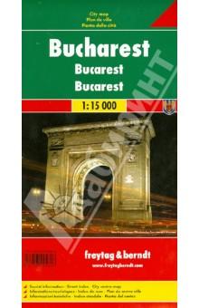 Bukarest 1:15 000Атласы и карты мира<br>Touristische Informationen. Ortsregister mit Postleitzahlen. Entfernungen in km.<br>